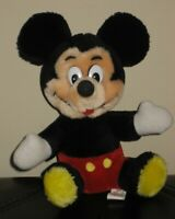 "Vintage Walt Disney Mickey Mouse Plush Disneyland Walt Disney World 7"" Toy"
