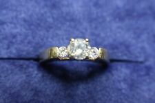 GIA $2500 .75ct D-E I2 Diamond 14K Gold Shane Co. Engagement Wedding Ring, Boxed