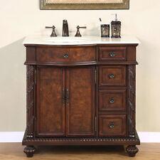 "36"" Single Bathroom Vanity Cabinet Furniture Marble Top (Sink on the Left) 213CM"