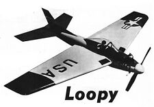 "Model Airplane Plans (UC): LOOPY 32"" Stunter fopr .09-.19 Engines (Musciano)"