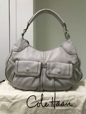 Tan Soft Leather Cole Haan Hobo Bag and matching weave wallet