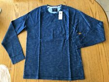Abercrombie & Fitch Men's Blue Dye Long Sleeve Shirt MEDIUM