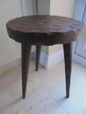 Vintage French Breton 3 legged stool, unscrewable pointy legs, round plant stand