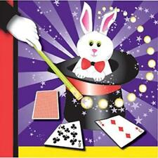 Magic Rabbit Magician Hat Trick Cute Kids Birthday Party Paper Beverage Napkins