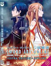 DVD Sword Art Online Season 1+2 (1-49) + Extra Edition (ENGLISH AUDIO)+ Offline