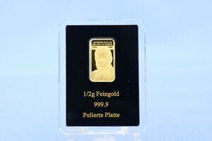 Deutschland 1/2 g Goldmotivbarren Helmut Schmidt *1/2 Gramm - 999 Gold* PP/Proof