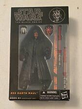 Hasbro Star Wars # 2 Darth Maul Action Figure Black Series Orange Line 6in