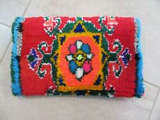 SACRED BUNDLE Moroccan Carpet Clutch Bag Leather Lining Tribal Ethnic