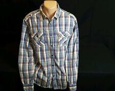 """Paper Denim & Cloth Shirt Men XL Cotton Plaid multicolor """"western style"""""""