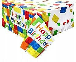 BUILDING BLOCKS TABLECOVER TABLEWARE PARTY SUPPLIES
