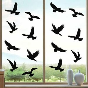 20 x Large Anti-Collision Window Stickers Decals Bird Strikes Glass Protection