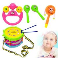 5pcs Baby Infant Toddler Developmental Toys Kids Drum Rattles Educational Toys H