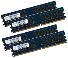 4x 2gb 8gb di RAM memoria PC ddr2 800 MHz pc2-6400u F. Intel + AMD Low Density DIMM