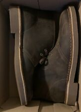 Clarks, Bushacre 2, Men's Dark Brown Leather Beeswax Ankle Chukka Boots, Sz 10 M