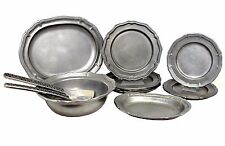 Mix Lot of 11 Wilton Armetale French Country, Queen Anne & Weave Textured Pewter