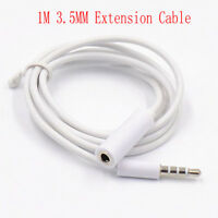 1M 3.5mm AUX Plug Jack Stereo Audio Headphone Extension Cable Male to Female M/F