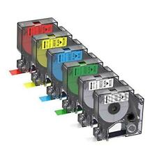 New listing Compatible Label Tapes Replacement for Dymo D1 Label Tapes Color Combo Set