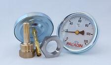 120 °C Räucher-Thermometer + VA Mutter, Analog, einstellbar!,  Räucherofen