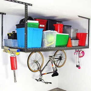 Saferacks 4'x8' Overhead Garage Storage Rack (Grey or White]