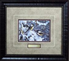 "Scott Zoellick ""Holiday Cheer Chickadee  Framed Print"