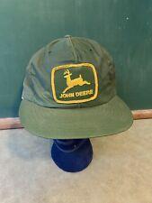 VINTAGE JOHN DEERE PATCH  SNAPBACK TRUCKER HAT / CAP USA LOUISVILLE 1970S