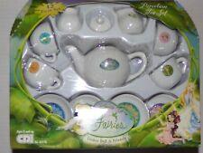 FROM DISNEY FAIRIES TINKER BELL & FRIENDS 12 PIECE PORCELAIN TEA SET! GREAT GIFT