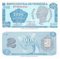 Venezuela 2 Bolivares 1989 P-69 Banknotes UNC