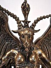 """Baphomet Horned Goat God Statue - 15"""" - Cold Cast Bronze by Maxine Miller"""