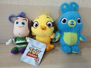 TOY STORY 4 BUZZ LIGHTYEAR, BUNNY & DUCKY PLUSH KEYRINGS - Buzz Still Has Tag
