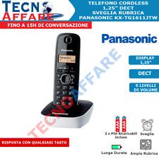 Telefono Cordless Dect Rubrica Sveglia Fisso Casa Panasonic KX-TG1611JTW