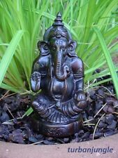 """Om 4"""" Ganesha Statue Remover of Obstacles Hindu Lord Good Luck Prosperity Ganesh"""