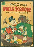 Four Color #456 Walt Disney's Uncle Scrooge Back to the Klondike 1953 Low Grade