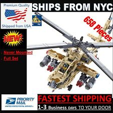 84020 (NEW IN BOX) Ah-64 Apache Customs Brick (USA FAST SHIPPING) KAZI
