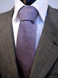 Mark Stephen Marengo Savile Row Purple Silk Tie Pristine