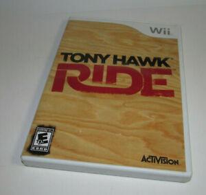 Tony Hawk Ride Nintendo Wii Complete CIB Game Very Good Shape