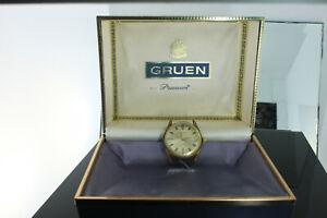 Vintage Gruen Precision 17 Jewel 510  Mechanical Gold Plated Wristwatch runs!