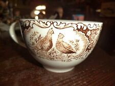 WILD TURKEY CUPS WINDSOR WARE JOHNSON BROTHERS BIRD CHINA ENGLAND CUP ANTIQUE