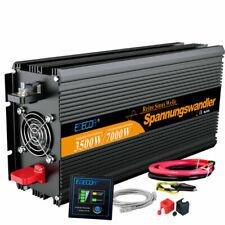EDECOA 3500/7000W 24V 220V Inversor de Onda Pura - Negro