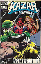 Very Fine Ka-Zar The Savage Vol 1 No 21 December 1982 Marvel Comics