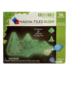 NEW BOX MAGNA-TILES Glow The Dark Set LED Light Magnetic Building Toys Math