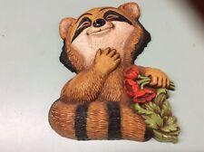 Raccoon Animal Art Wall Plaque 1977 Burwood Home Int Homco