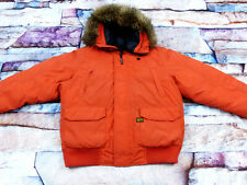 *G - STAR RAW MOUNTAIN HOODED BOMBER WINTER JACKE*ORANGE*VINTAGE*GR: XL*TIP TOP