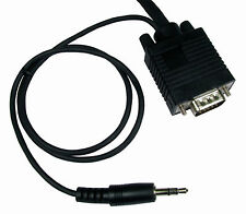 3m SVGA Male PC Monitor VGA Lead & built in 3.5mm Stereo Sound Audio Jack Cable