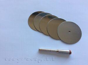 Dremel accessories-5Pcs 25mm HSS Saw Disc+Mandrel Circular Wheel Cutting Blades