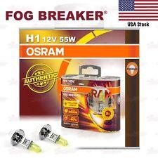 OSRAM FOG BREAKER Headlight Bulbs Duo Lamps 2600K YELLOW H1 12V 55W for LOW BEAM