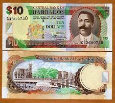 Barbados, $10, 2-5-2012, P-68-New, UNC