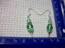 Silver plated Peridot earrings