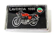 Laverda lapel pin Motorcycle scooter red green chrome black  italian hat badge