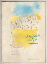 "Vanessa Redgrave & Rupert Graves   ""A Madhouse In Goa""   Playbill  London  1989"