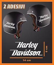 HARLEY DAVIDSON COPPIA ADESIVI LOGO REPLICA STICKERS PER CASCO MOTO SERBATOIO